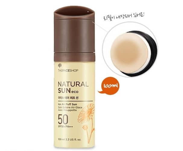 Kem Chống Nắng The Face Shop Natural Sun Eco Ice Air Puff Sun