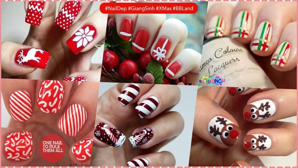 Những mẫu nail đẹp cho mùa giáng sinh
