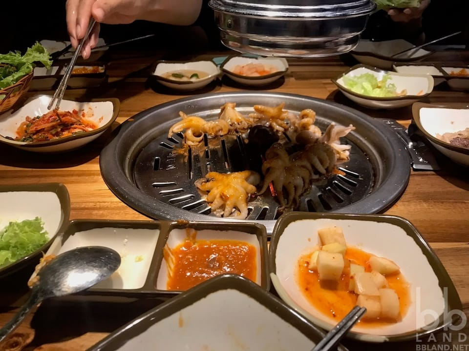 Bạch tuộc baby sốt karubi cay - GoGi House Đà Nẵng - Quán Thịt Nướng Hàn Quốc