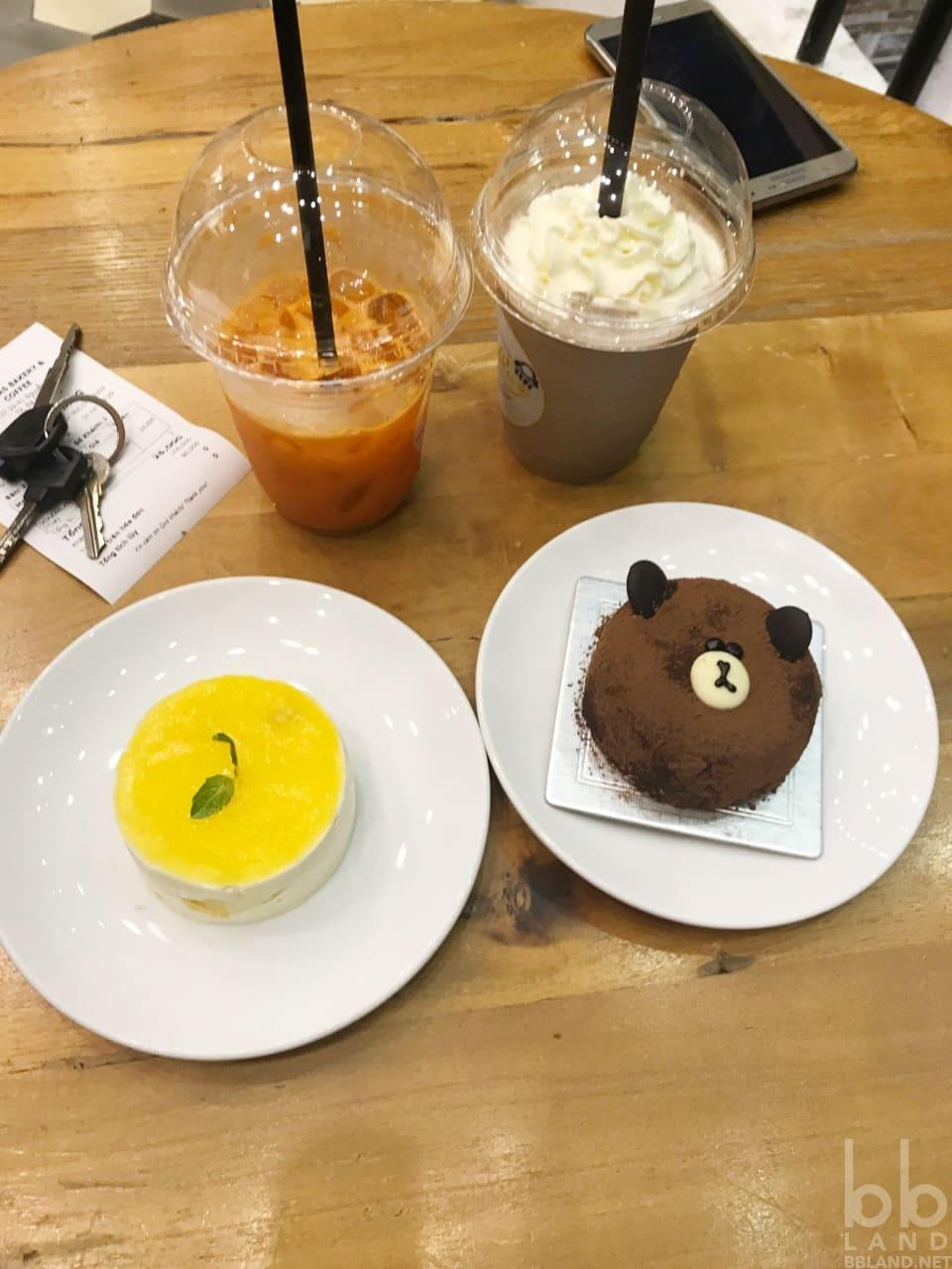 Bánh gấu Brown và mousse xoài ở Bonpas