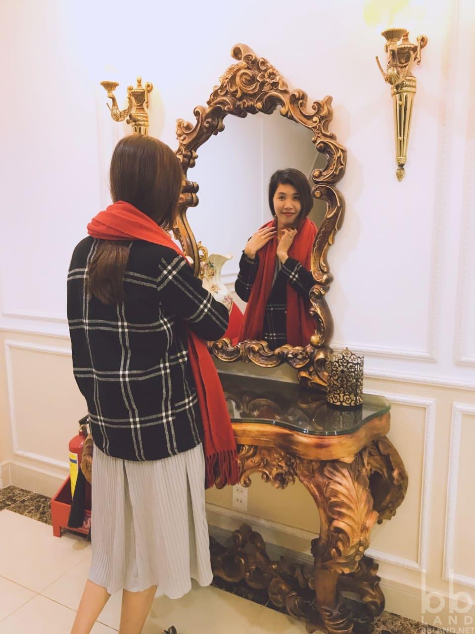 Gương trước phòng La Vie En Rose Villa Đà Lạt